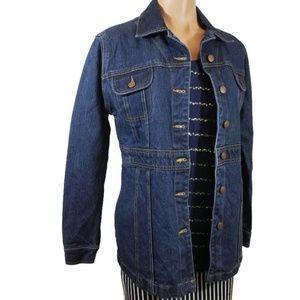 Vintage Bill Blass long denim jacket Small